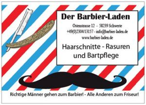 Barbier-Laden Kopfmassage
