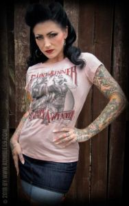 Rumble59 Ladies T-Shirt - Saint or Sinner - rosa-L